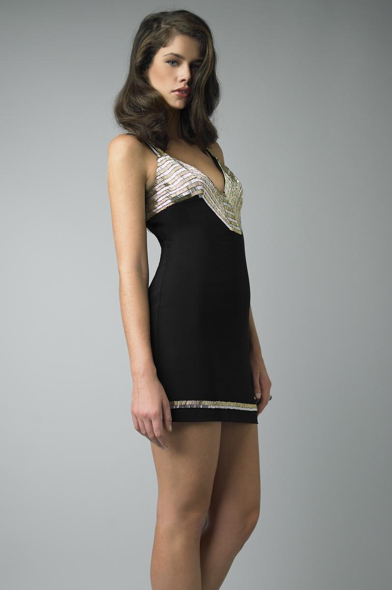 D5972A | basix chevron cocktail dress |