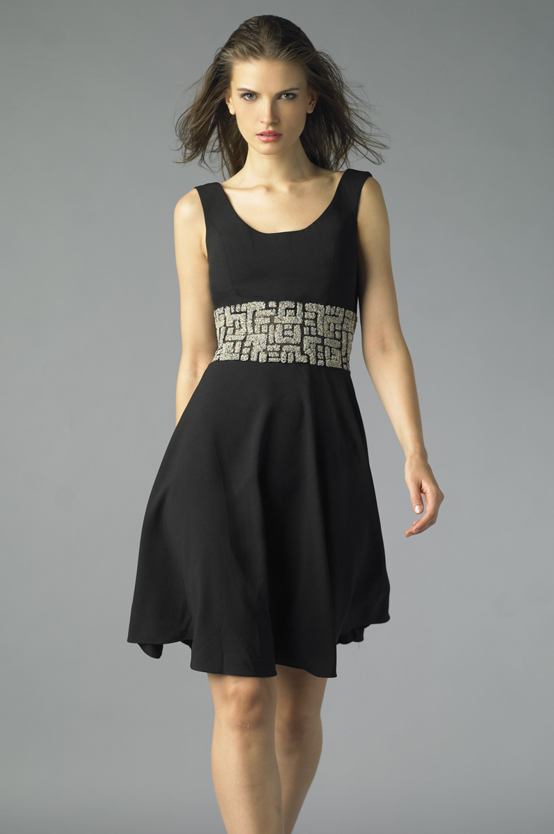 D7448A | sleeveless cocktail dress by basix black label |