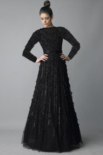 Basix black label high neck seamless floral motif ballgown