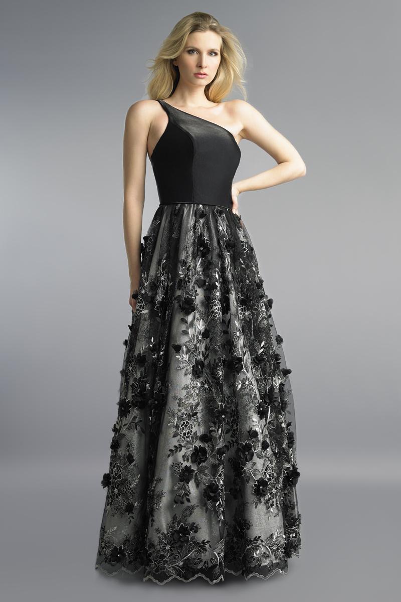 D1038L | One shoudler gown by basix black label |