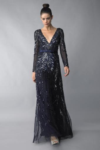 Basix Black Label Long Sleeve Sequin Dress