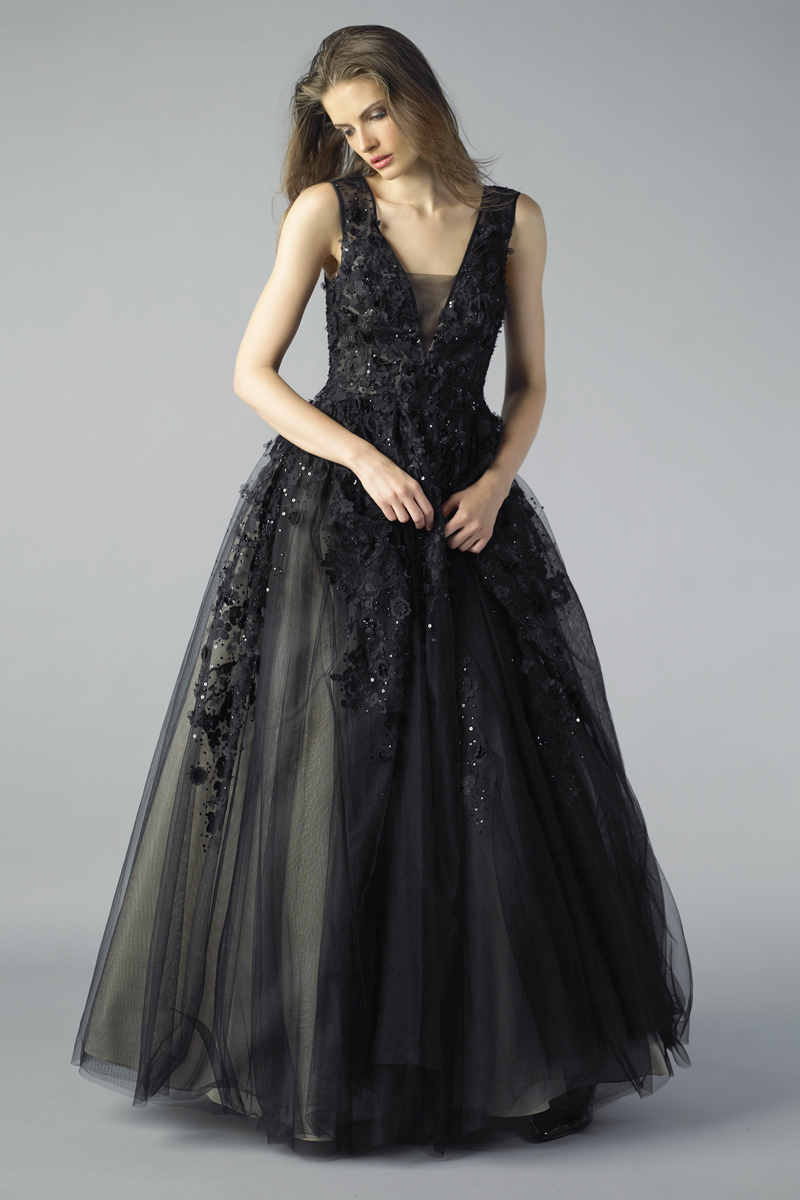 D7079L | Basix Black Label Sleeveless Ballgown |
