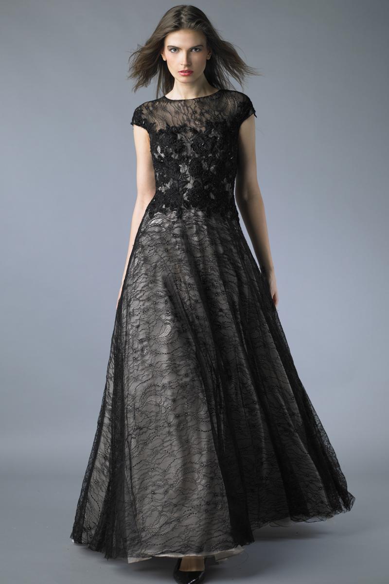 D7361L | Basix black label sleeveless ball gown |