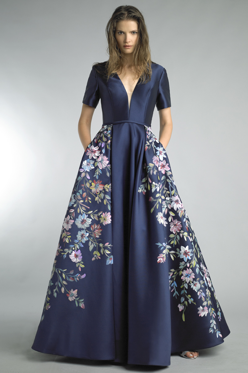 D8404L | Basix Black Label hand painted ball gown |