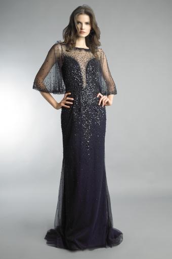 basix black label capelet gown