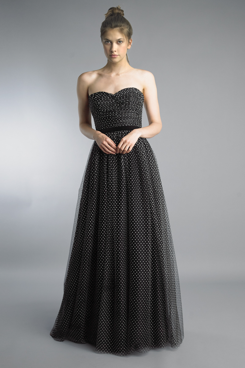 D9575L | basix black label evening gown with sweetheart torso |
