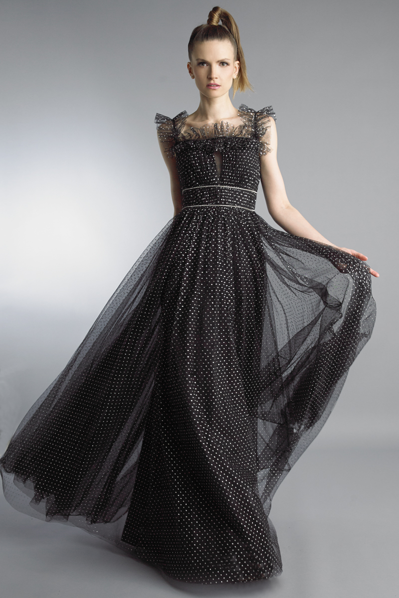 D9755L | Basix Black Label Off Shoulder Gown |